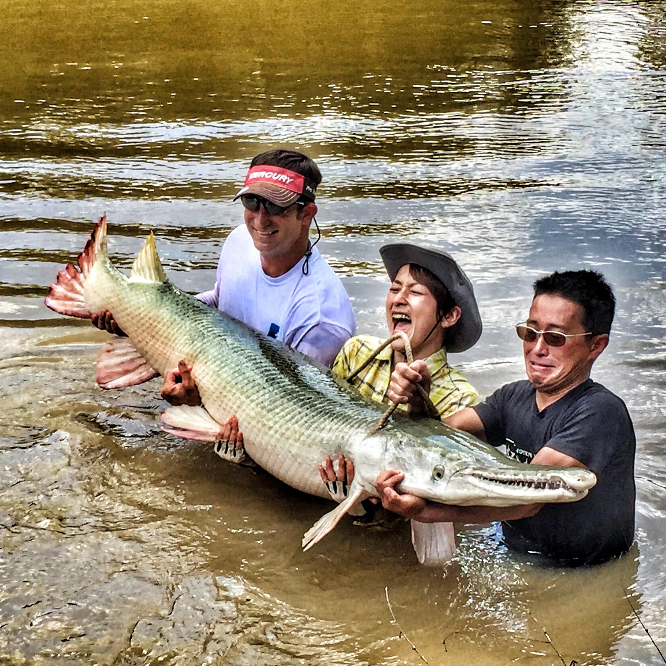 Garzilla bowfishing links for Gar fish texas
